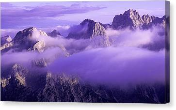 Three Summits. Julian Alps Canvas Print