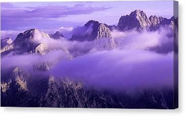 Three Summits. Julian Alps Canvas Print by Konstantin Dikovsky