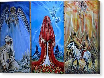 Three Symbolic Paintings About Turkey Canvas Print by Anna Duyunova