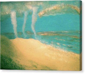 Three Tornadoes Canvas Print by Barbara Searcy