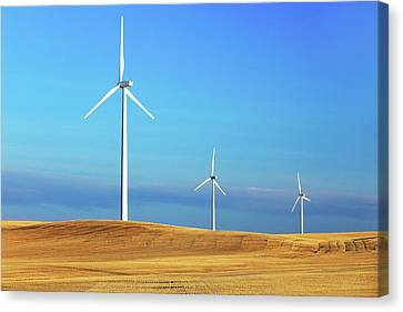 Three Turbines Canvas Print by Todd Klassy