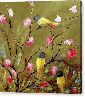 Three Tweets Canvas Print by Ruth Palmer