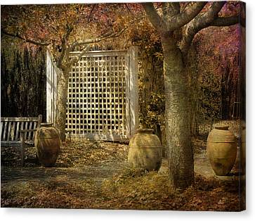 Canvas Print featuring the photograph Three Vases by John Rivera