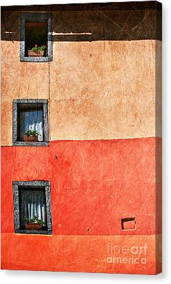 Three Vertical Windows Canvas Print