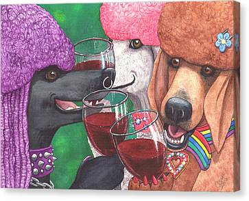 Three Wining Bitches Canvas Print by Catherine G McElroy