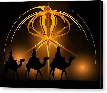 Three Wise Men Christmas Card Canvas Print