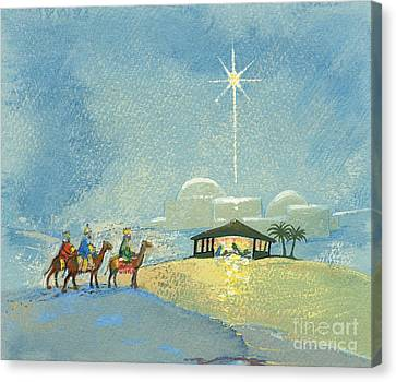 Bethlehem Canvas Print - Three Wise Men by David Cooke