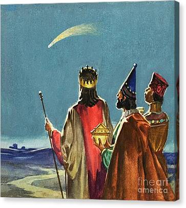 Bethlehem Canvas Print - Three Wise Men by English School