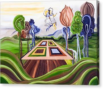 Threshing Floor Canvas Print by Leah Richter