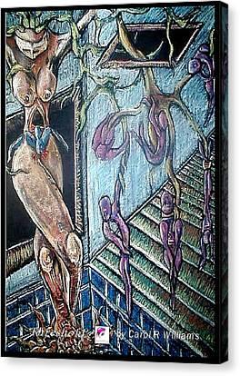 Canvas Print featuring the painting Threshold by Carol Rashawnna Williams