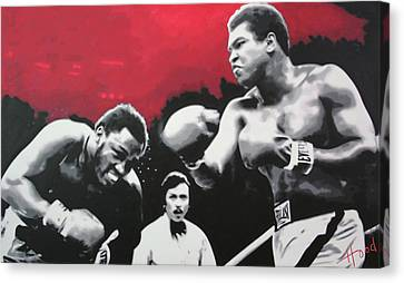 Thrilla In Manila Canvas Print