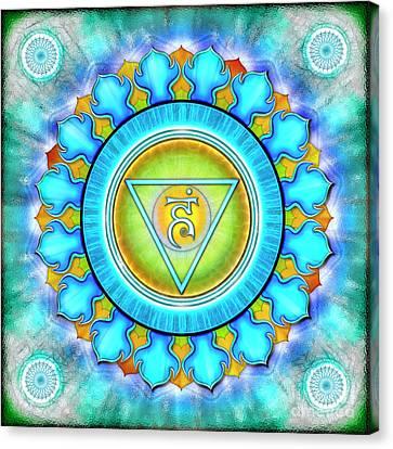 Chakra Therapy Canvas Print - Throat Chakra - Series 3 by Dirk Czarnota