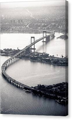 Throgs-neck Bridge - Nyc Canvas Print by Original photography by Neos Design - Cory Eastman