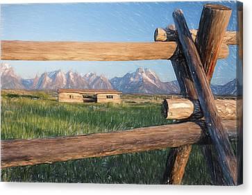 Through A Fence II Canvas Print by Jon Glaser
