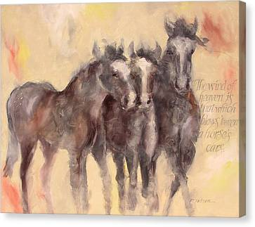 Through A Horses Ears Canvas Print by Ron Patterson