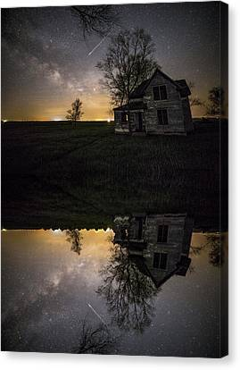 Canvas Print featuring the photograph Through A Mirror Darkly  by Aaron J Groen