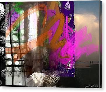 Through A Window 3 Canvas Print by Janis Kirstein