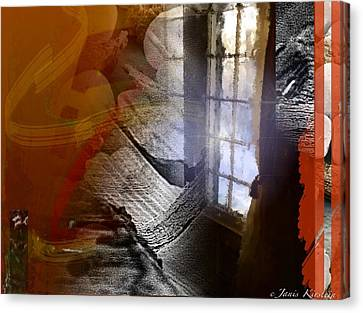 Through A Window 4 Canvas Print by Janis Kirstein