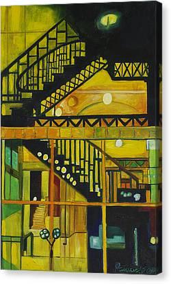 Through Parisian Glass Canvas Print by Patricia Arroyo