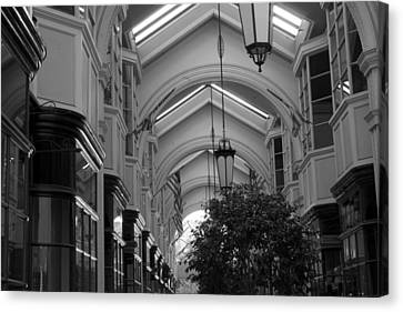 Through The Building Canvas Print by M Valeriano
