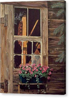 Through The Cabin Window Canvas Print by Lynda  Lawrence