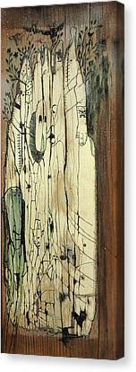 Through The Cracks Canvas Print by Konrad Geel