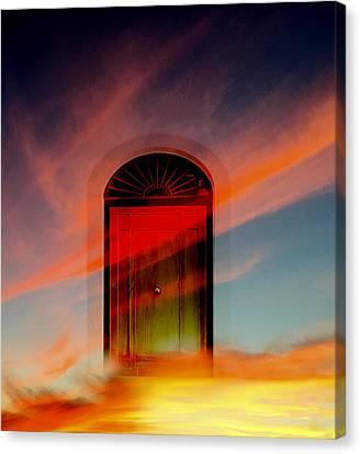 Through The Door Canvas Print