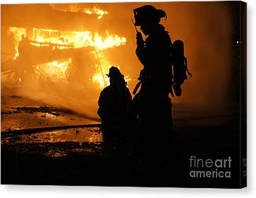 Through The Flames Canvas Print by Benanne Stiens