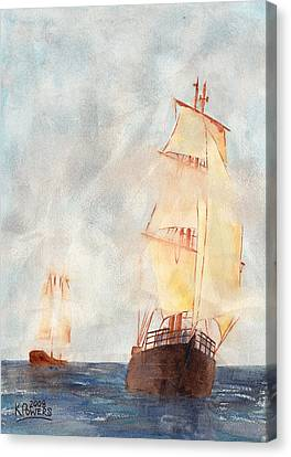 Through The Fog Canvas Print by Ken Powers