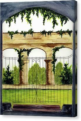 Through The Gates Canvas Print by Michael Vigliotti