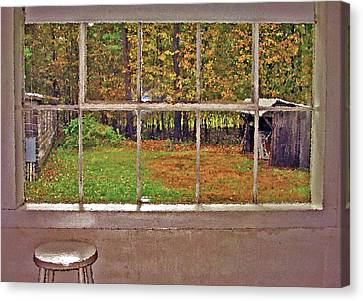 Through The Glass Canvas Print by Steve Ohlsen