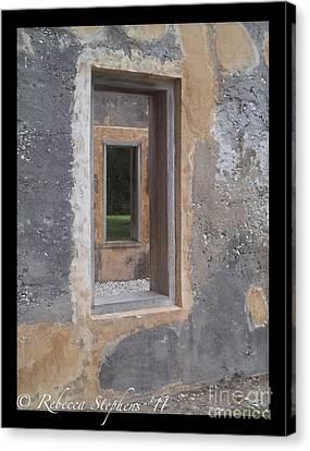 Through The Horton Window Canvas Print by Rebecca Stephens