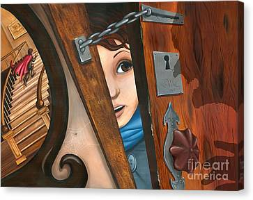 Through The Keyhole Canvas Print by Denise M Cassano