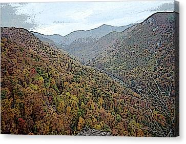 Through The Mountains Canvas Print