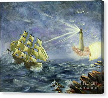 Canvas Print featuring the painting Through The Storm by Kristi Roberts