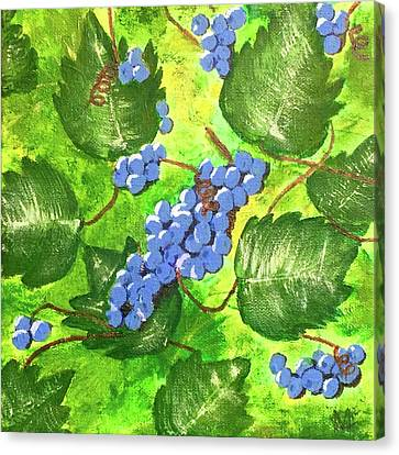 Through The Vines Canvas Print by Cynthia Morgan