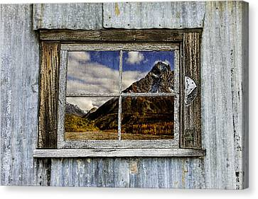 Through The Window Of The Past 2 Canvas Print