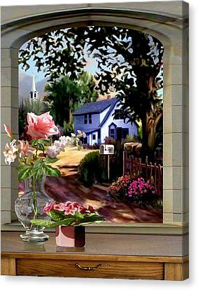 Through The Window Canvas Print by Ron Chambers
