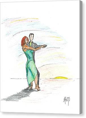 Through 'til Dawn... Sketch Canvas Print by Robert Meszaros