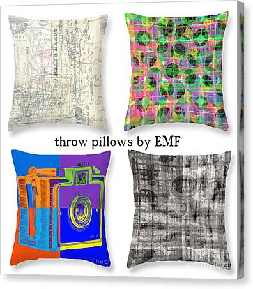 Selection Canvas Print - Throw Pillows By Edward M. Fielding by Edward Fielding