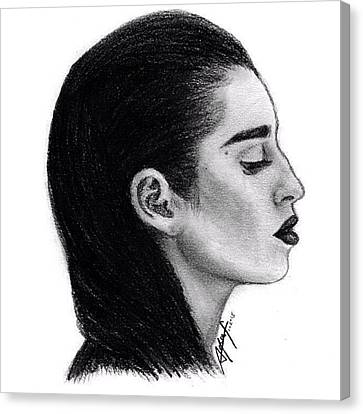 Canvas Print - Lauren Jauregui Drawing By Sofia Furniel by Jul V