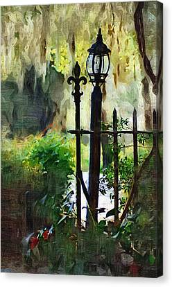 Canvas Print featuring the digital art Thru The Gate by Donna Bentley