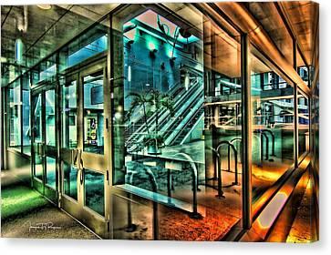 Rack Canvas Print - Thru The Window by Todd Yoder