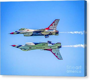 Thunderbirds Reflection Pass Canvas Print