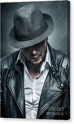 Thug Portrait Canvas Print by Carlos Caetano