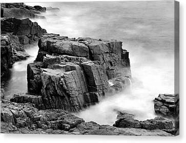 Thunder Along The Acadia Coastline - No 1 Canvas Print by Thomas Schoeller