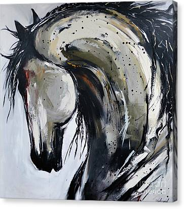 Canvas Print featuring the painting Thunder And Lightning by Cher Devereaux