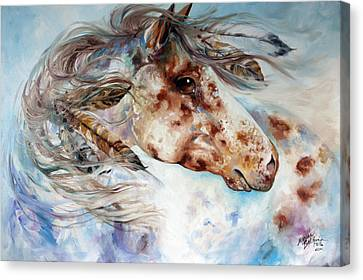 Canvas Print - Thunder Appaloosa Indian War Horse by Marcia Baldwin
