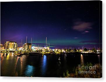 Thunder Bay Aurora Cityscape Canvas Print by James Brown