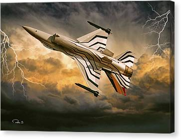 Thunder Demo Canvas Print by Peter Scheelen